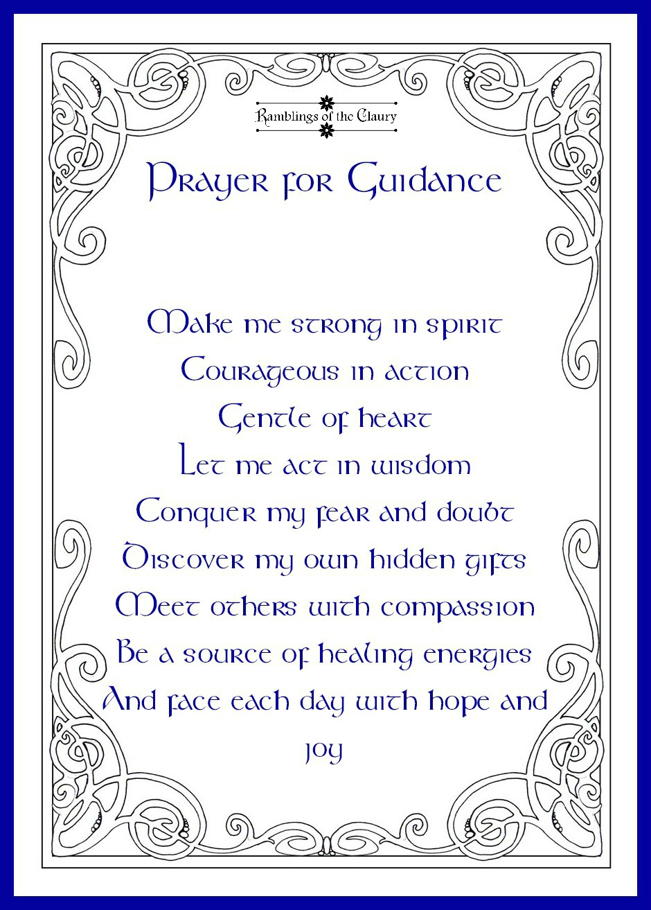 Prayer for Guidance | Ramblings of the Claury