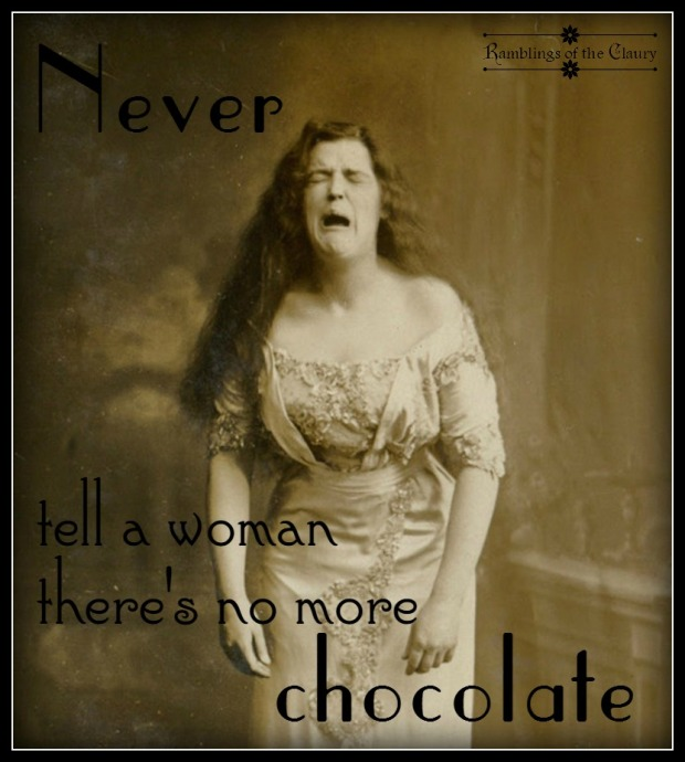 no more chocolate