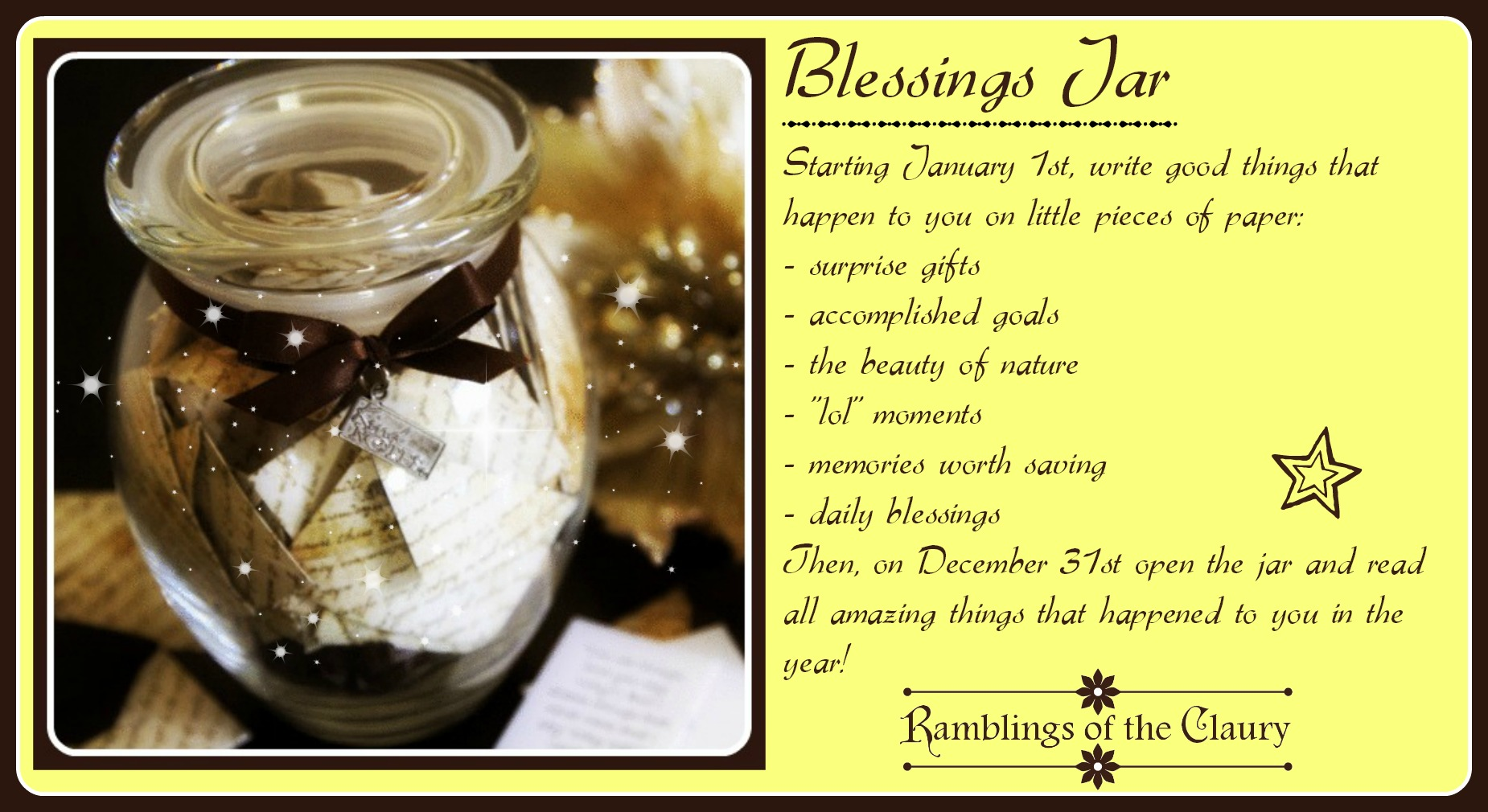An Idea for the New Year | Ramblings of the Claury