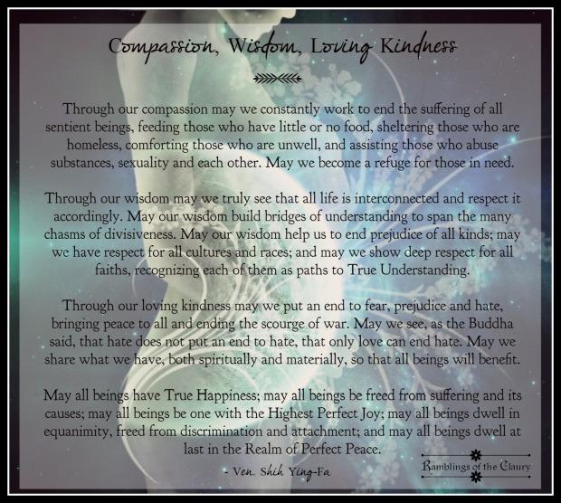 compassion, wisdom, Loving kindness
