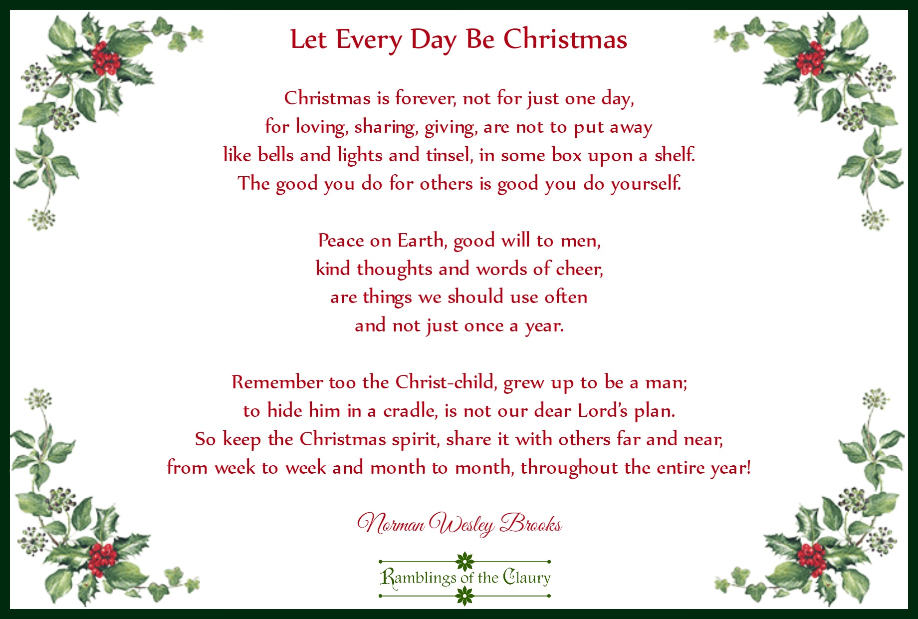 Let Every Day Be Christmas