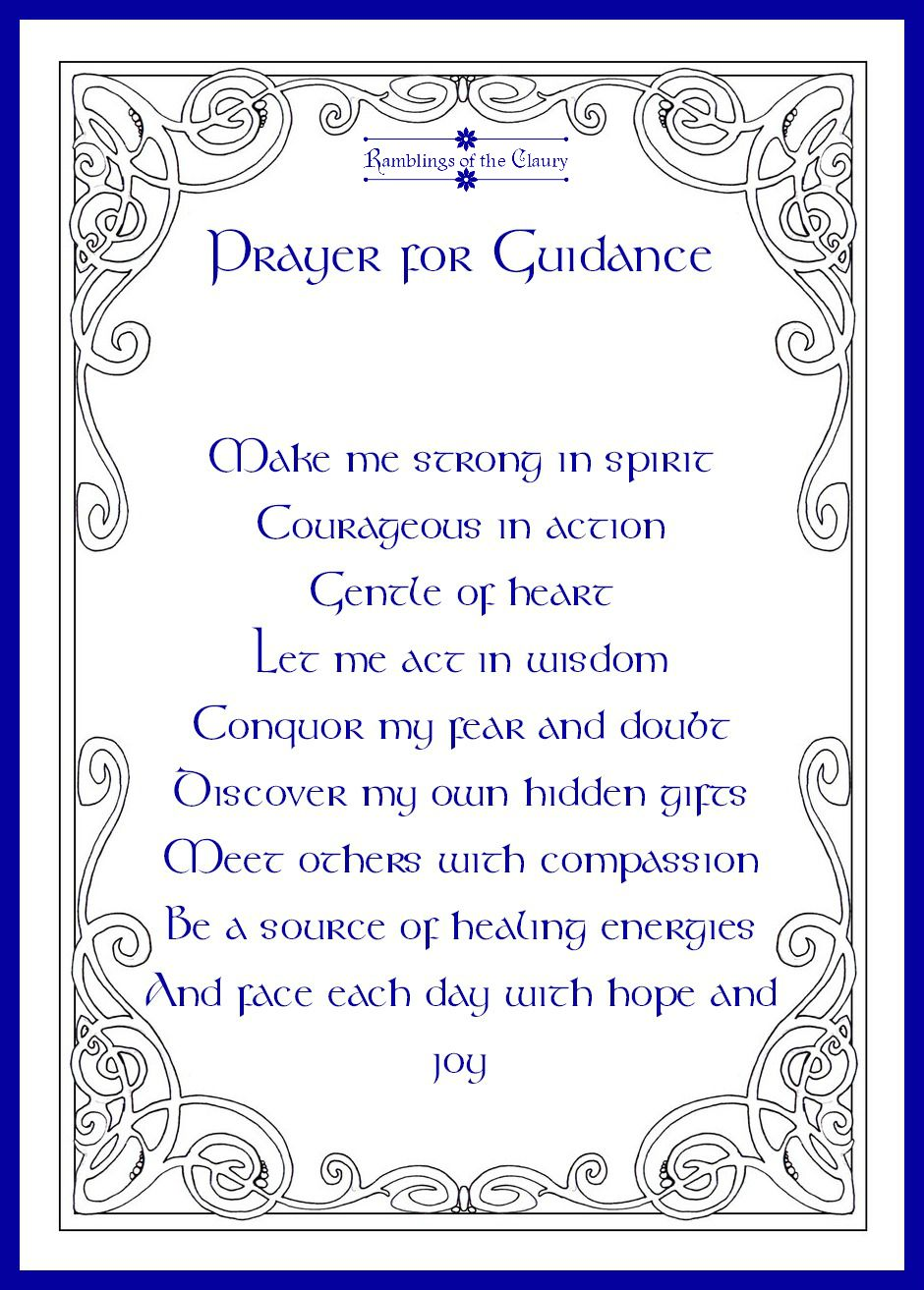 Prayer For Guidance Ramblings Of The Claury