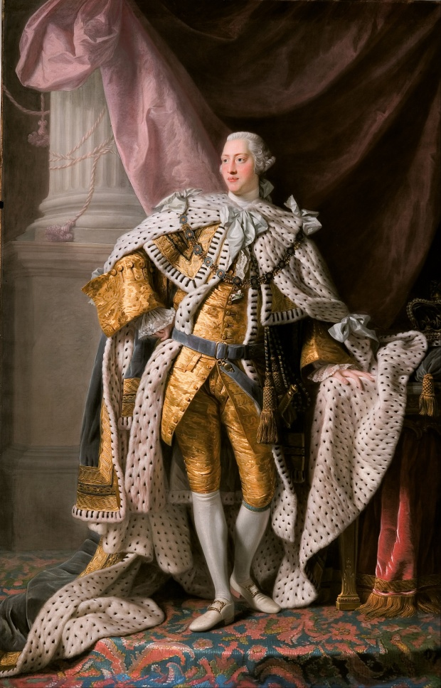 King George III in his coronation robes, Allan Ramsay, 1762