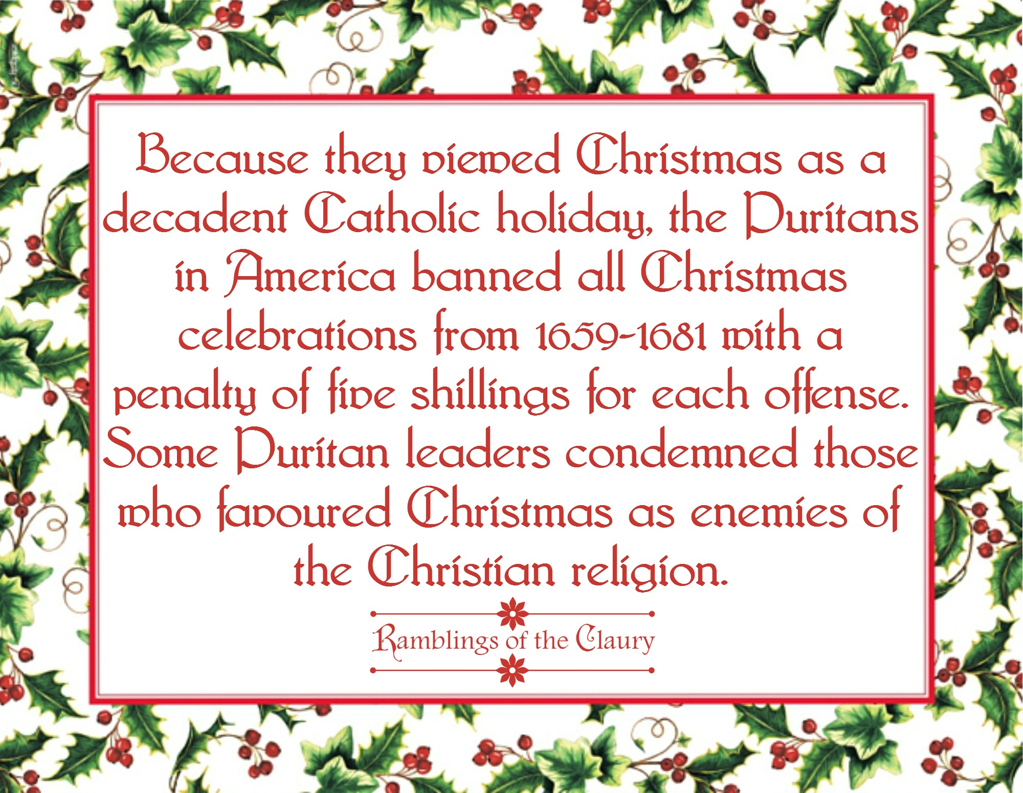 christmas fact of the day