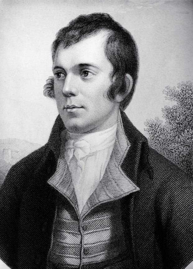 Portrait of Robert Burns (1759-1796), Scottish poet and composer, Engraving