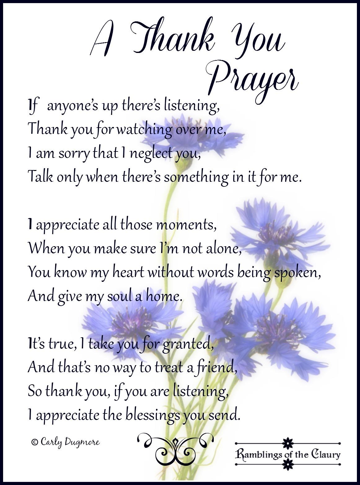 A Thank You Prayer